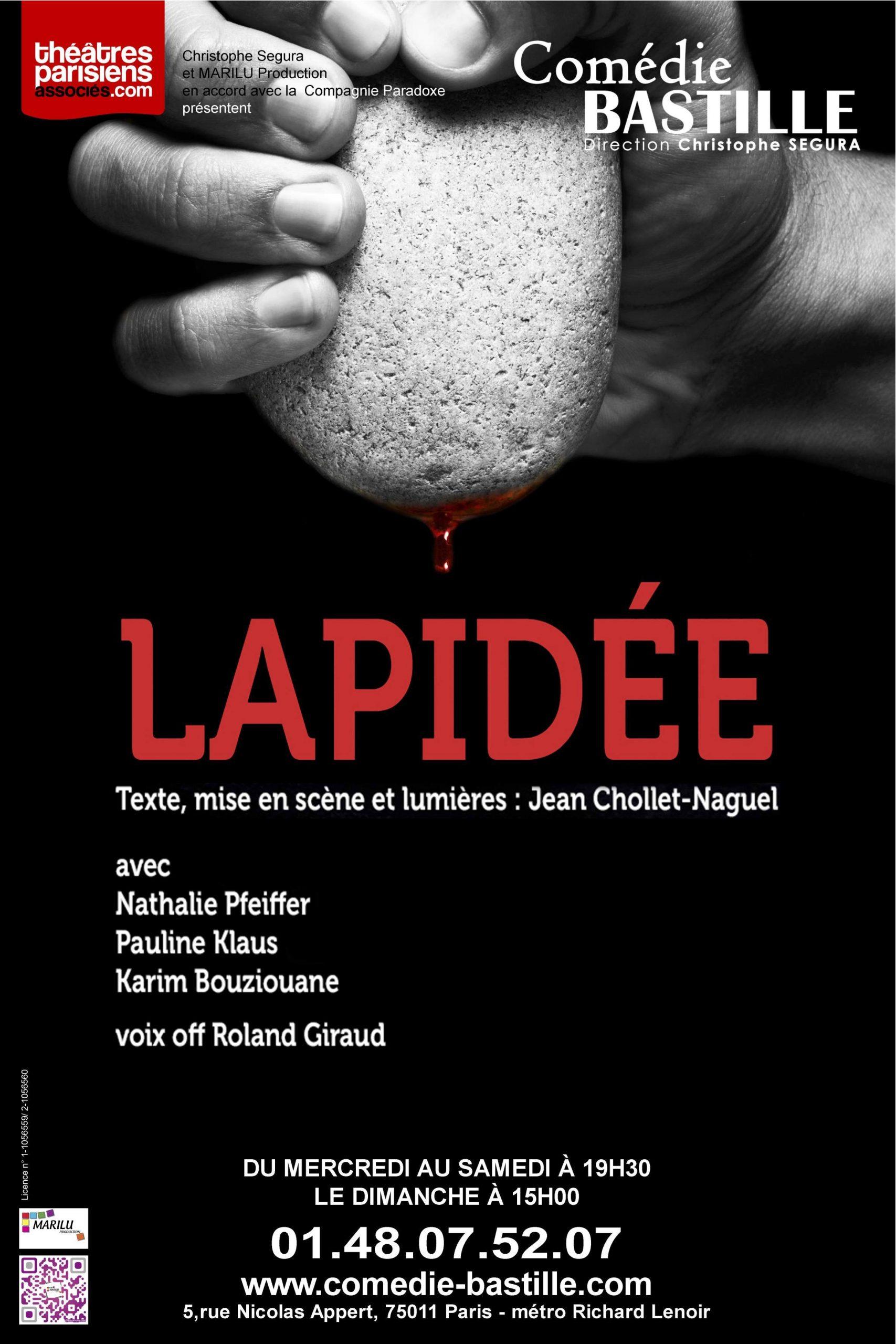Affiche Lapidée Comédie Bastille.bd